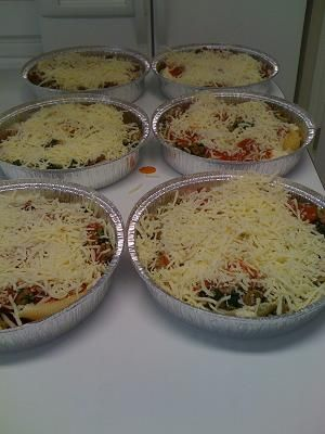 Batches of Ziti for the freezer  *Made a big batch 8/28/12. Came in handy 2 days…