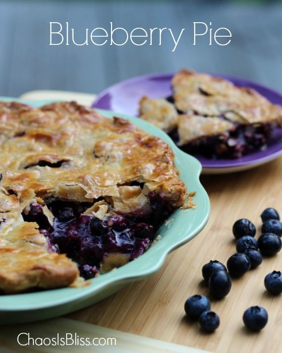 My family's favorite Blueberry Pie recipe - so easy to make, and WOW it tastes amazing! | ChaosIsBliss.com