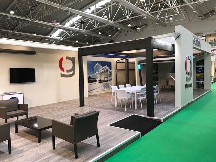 Elegante stand de SATEV dealer oficial de Gaviota, en esta edición se mostró la gama Concept de #toldos con #cofre con tecnología #innovadora