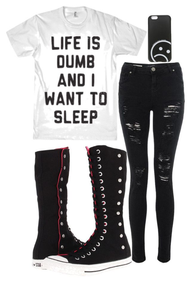 """untitled #79"" by killjoy-sam ❤ liked on Polyvore featuring Converse and Marc by Marc Jacobs"