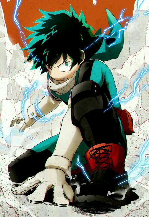 "Midoriya ""Deku"" Izuku, cool, electricity, Quirk; My Hero Academia"