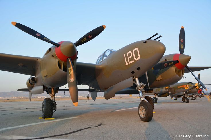 """Planes of Fame Air Show 2013 - Lockheed P-38L-5-LO Lightning """"Thoughts of Midnight""""; s/n 44-53095, N38TF   da g_takeuchi"""