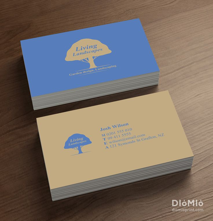 garden design business cards