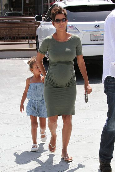 Halle Berry's maternity style