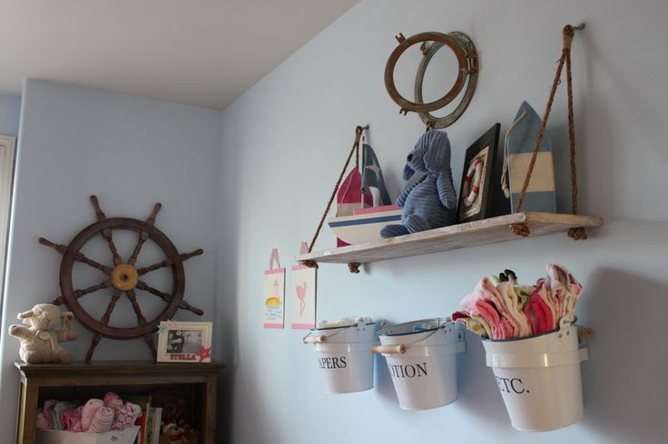 Nautical nursery: Nautical Nursery, Idea, Shelves, Boy Nursery, Nautical Baby, Baby Room, Beach, Baby Boy, Baby Stuff