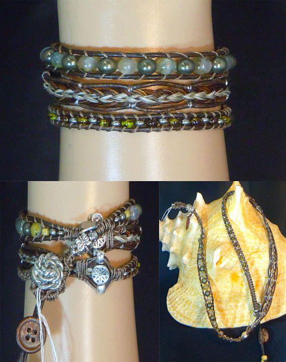 118-Triple Wrap Bracelet horsehair