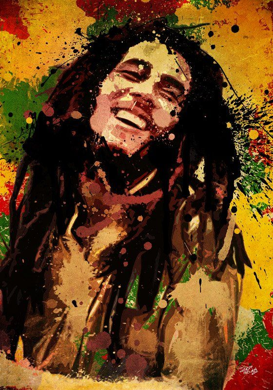 """Bob Marley    """"One good thing about music, when it hits you, you feel no pain.""""     http://portraitsbyigor.com/"""