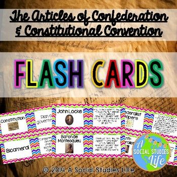 84 best flash cards images on pinterest full set social science articles of confederation and constitutional convention flash cards fandeluxe Gallery