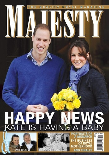 Majesty magazine - Happy News - Kate is having a baby!