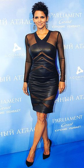 Halle Berry, more like Halle of a lot of Leather