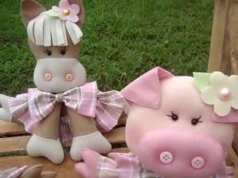 Pra quem quer fazer essas belezinhas da fazenda, disponibilizei na página www.facebook.com/kelartesemfeltro os moldes de cada um dos bichinhos do vídeo. Pass...