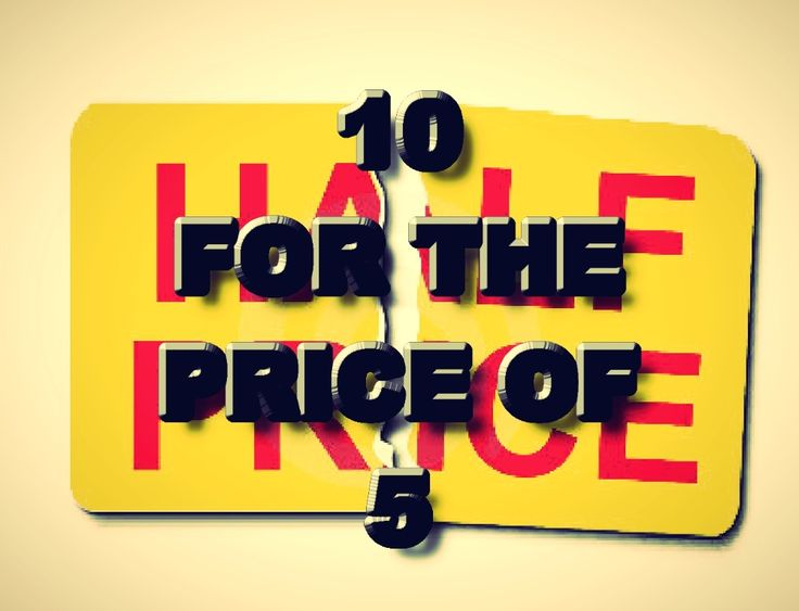 HALF PRICE DISCOUNT!!! - $4.99 #onselz