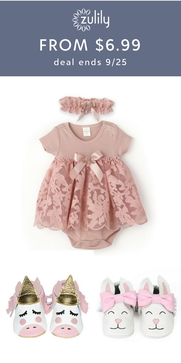 Sign up to shop baby apparel starting at $6.99 at zulily.com. Get her prepped for fall with snuggly picks for your little sweetie. Deal ends 9/25.