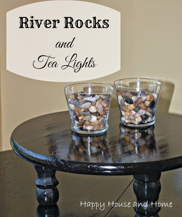 River Rock Tea Lights are easy to make and look beautiful! #crafts #riverrocks #tealights