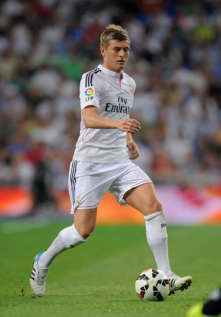 Toni Kroos of Real Madrid in action during the La liga match between Real Madrid CF and Cordoba CF at Estadio Santiago Bernabeu on August 25, 2014 in Madrid, Spain.