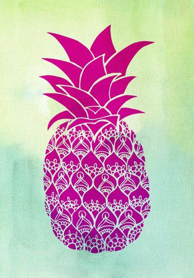 Pink Pineapple Art Print Pineapple wallpaper, Boho and