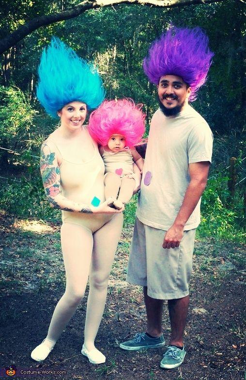 Treasure Troll Trio - Awesome Family Halloween Costume Idea!