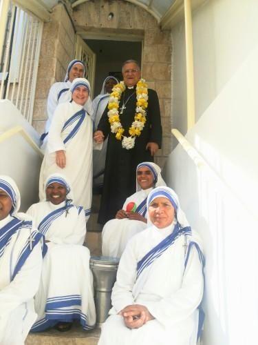 La más reciente visita fue realizada a las Misioneras de la Caridad, orden fundada por la Beata Madre Teresa de Calcuta.