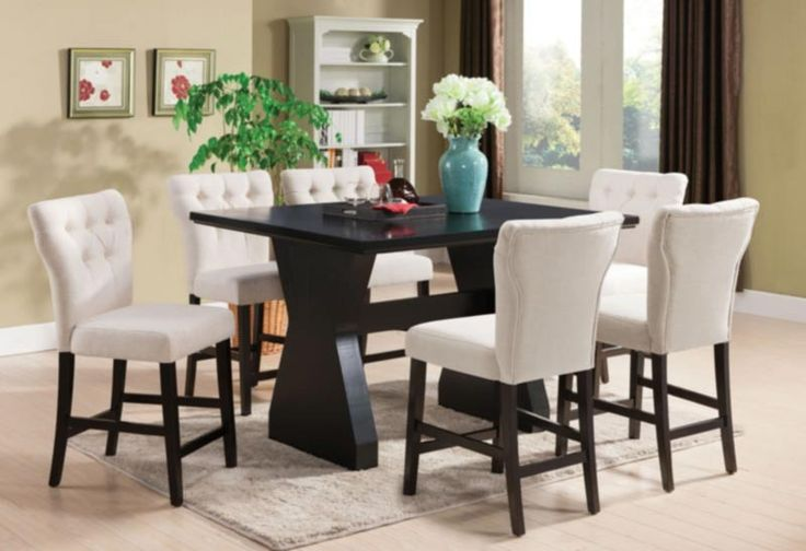 Acme Furniture - Effie 6 Piece Counter Height Table Set in Espresso - 71520-BE-7SET