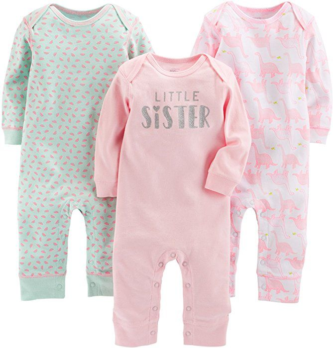 Simple Joys by Carters Baby Boys 3-Pack Jumpsuits Pack of 3