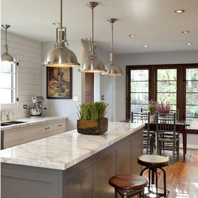 gray kitchen dark doors
