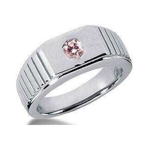 0.35 Karat pink Diamant- Herrenring aus 585er Weißgold für nur 2699.00 Euro bei www.juwelierhausabt.de