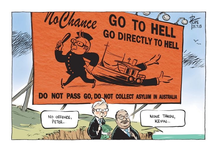Cartoon on No Chance sign