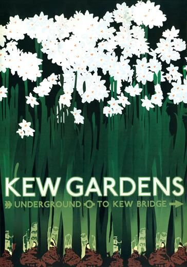 Vintage poster for Kew Gardens via @PWCFreelance