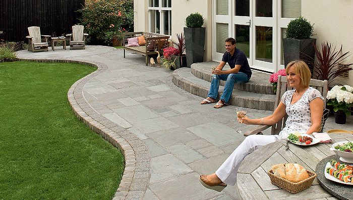 FAIRSTONE RIVEN HARENA Fairstone Riven Harena Garden Paving is a superior quality, ethically sourced natural sandstone paving. Available in three subtle colour blends, Fairstone Riven Harena has been carefully colour selected by hand for purity of colour and dimensional accuracy. The naturally split riven cleft face and hand fettled edges add texture and character to your patio making this product suitable for any garden setting. #garden #paving #design #stone #marshalls