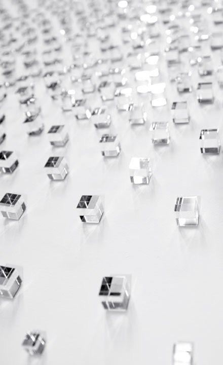 Teresita Fernández | Double dissolve (detail), 2010 | silvered glass cubes