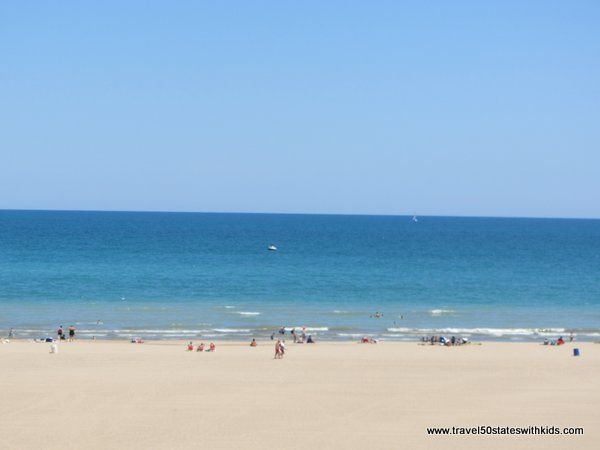 Check out this beautiful family friendly beach--North Beach in Racine, Wisconsin.  www.travel50stateswithkids.com