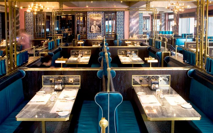 """<p><span class=""""caps"""">BBR</span> is a Brasserie inspired by the romance of early 20th-century travel, the idea of the Train Eclair de Luxe, by the Wagon-Lits, and by the grand brasseries and hotels of Central Europe. The brand insignia, designed by David Collins Studio, has been incorporated throughout the design. Using finishes including marbles, terrazzo and custom ikat and kaleidoscopic wallpapers, a fin de siècle world has been created. <br /> <span class=""""caps"""">BBR</span> is the…"""