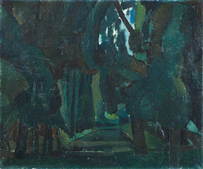 Andre Derain: Trees by a lake, le Parc de Carrieres-St-Denis (c. 1909)