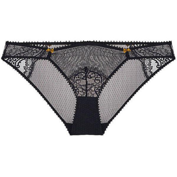 Heidi Klum Intimates Olympia Lashes Bikini ($18) ❤ liked on Polyvore featuring intimates, panties, sheer bikini, transparent lingerie, sheer lingerie, heidi klum lingerie and sparkly bikini