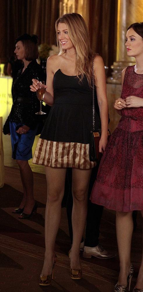 Gossip girl season 6 serena yellow dress.