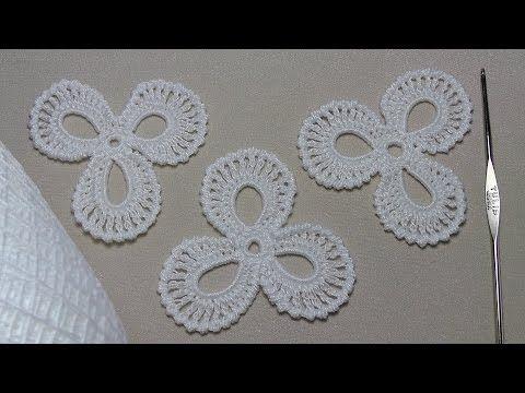 Как связать мотив трилистник для ирландского кружева - УРОК ВЯЗАНИЯ для начинающих. Lesson Crochet - YouTube