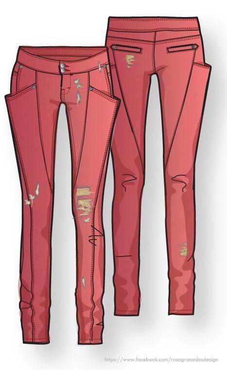 Pantalón pitillo - Flat