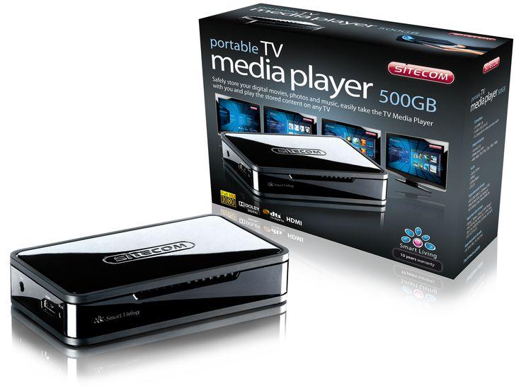 Portable TV Mediaplayer 500GB   MD-271- Porta con te il TV Media Player per riprodurre la tua musica, i tuoi film e le tue foto su qualsiasi TV - Disco rigido integrato da 500 GB per l'archiviazione di filmati, musica e foto - Dimensioni compatte, ideali per utenti che usano dispositivi mobili in vacanza o in viaggio per lavoro - Prova la qualità Full HD (1080p) - Custodia in neoprene inclusa per proteggere il lettore multimediale durante gli spostamenti
