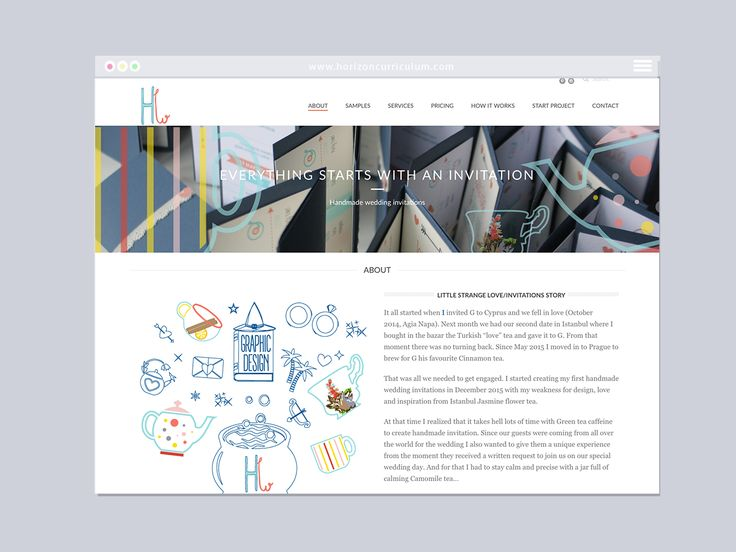 Handmade Wedding Website | Varró Joanna Design | Website | Web Design | Graphic Design | Inspiration | Graphic Designer