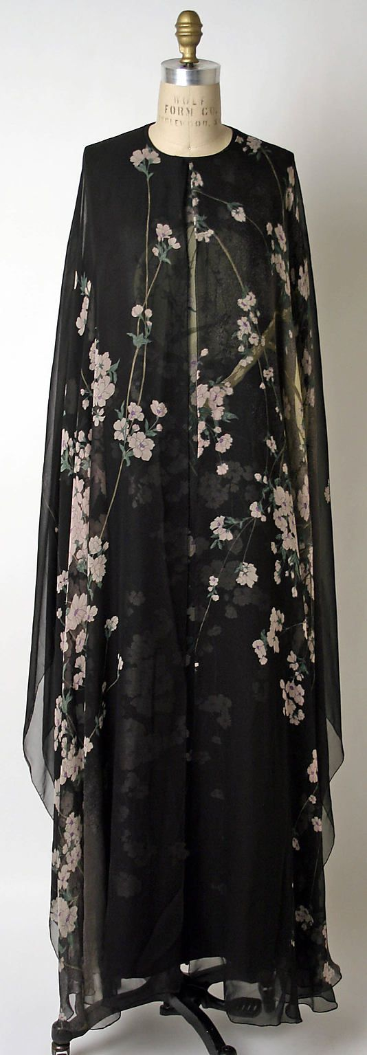Evening Ensemble, Hanae Mori, 1974, Japanese, silk