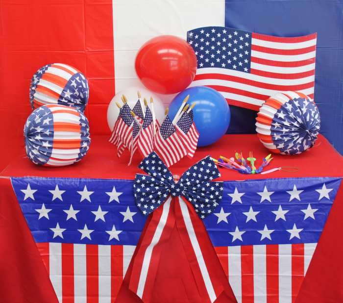 27 best images about 4th of july decoration ideas on for American flag decoration