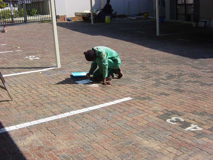 We paint traffic lines, parking bay lines and numbers