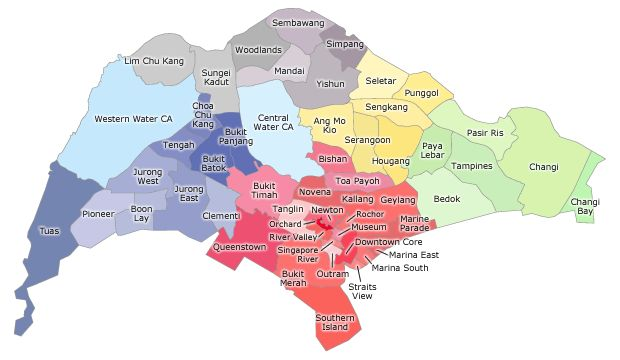 Singapore Silver Pages - Map of Eldercare Service Locator
