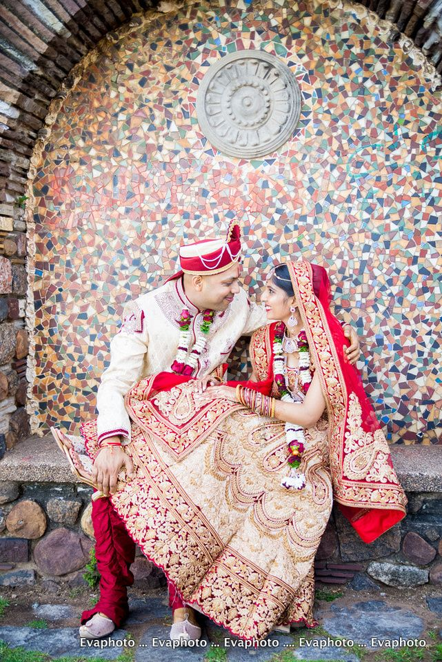 Indian bridal couple