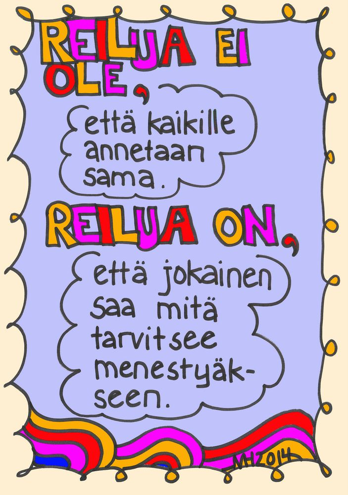 Reilua ei ole... reilua on...
