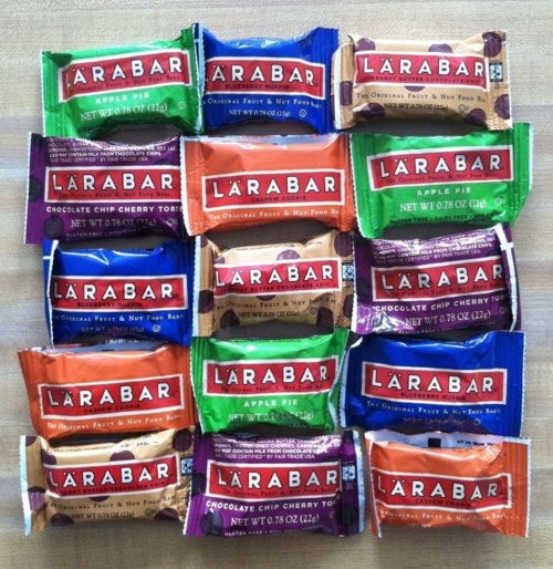 Larabars and Jocolat Bars--natural and gluten free snacks
