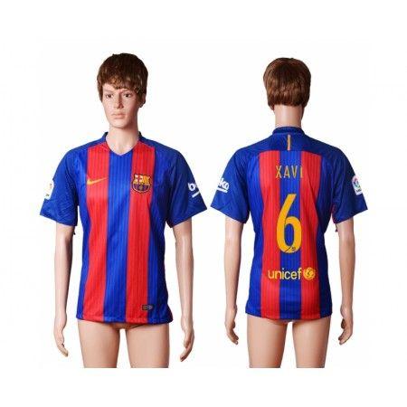 Barcelona 16-17 #Xavi 6 Hemmatröja Kortärmad