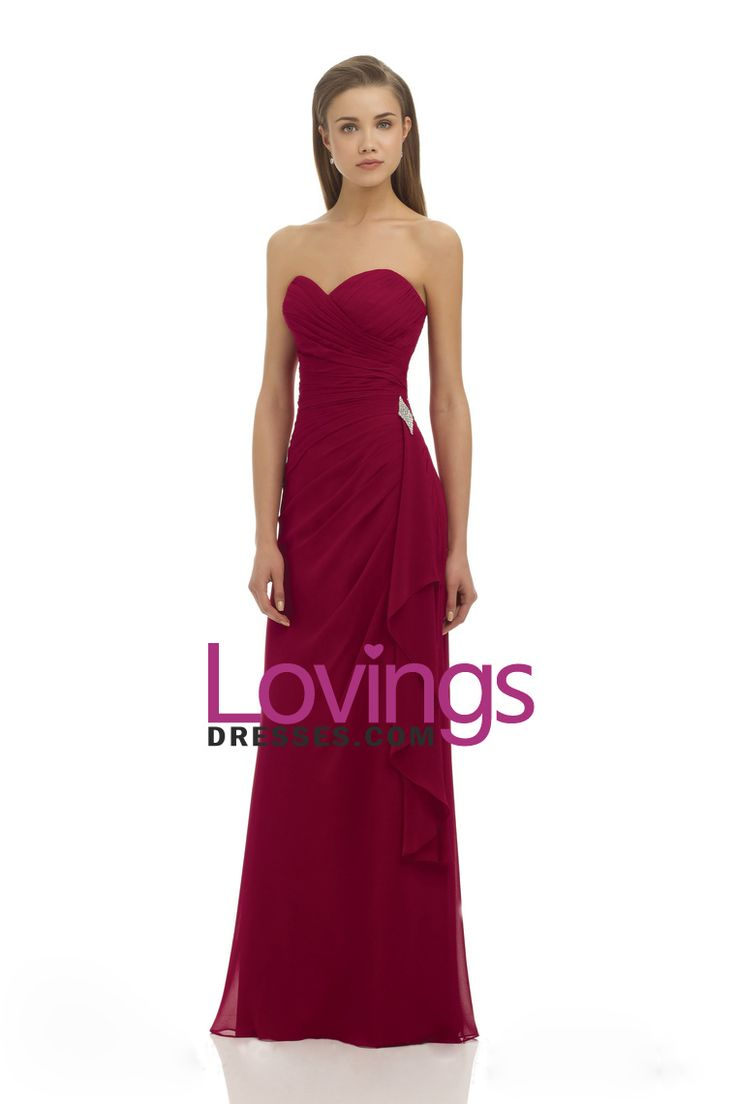 2015 Sweetheart A Line Bridesmaid Dresses Chiffon Floor Length US$ 109.99 LDPZJ82AJZ - lovingsdresses.com for mobile