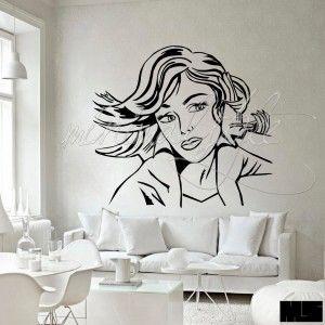 Maybe // Talán  Roy Lichtenstein híres képének (1965.) reprodukciója.  FALMATRICA