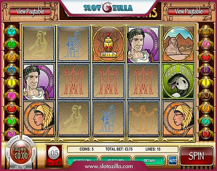 Cleopatra�s Coins free #slot_machine #game presented by www.Slotozilla.com - World's biggest source of #free_slots where you can play slots for fun, free of charge, instantly online (no download or registration required) . So, spin some reels at Slotozilla! Cleopatra�s Coins slots direct link: http://www.slotozilla.com/free-slots/cleopatras-coins
